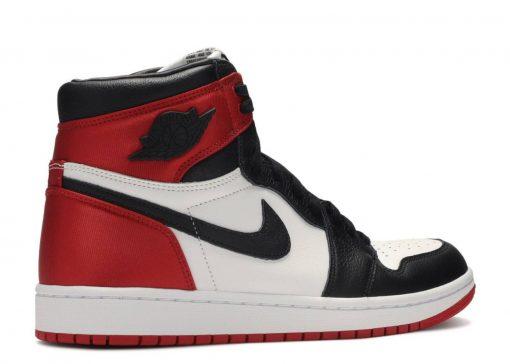 Nike Air Jordan 1 Retro High Satin Black Toe