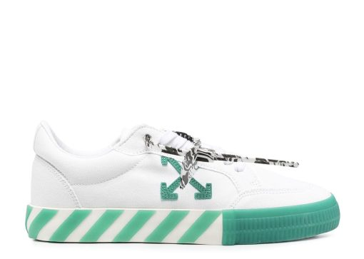 Off-White Logo Patch Low Top White Green