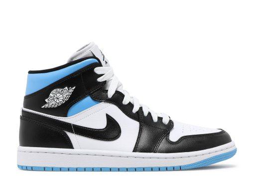 Nike Air Jordan 1 Mid University Black White (W) BQ6472-102